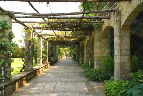 pathway.arched way, Hever castle garden, England