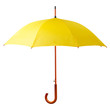 Yellow umbrella isolated on white background - 61113160