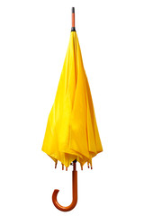 Yellow umbrella isolated on white background