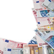 frame of euro banknotes