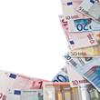 frame of euro banknotes