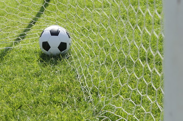 Classic ball pattern with football-net, GOAL.