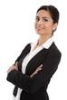 Portrait lachende junge indische Business Frau