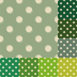 seamless green polka dots pattern