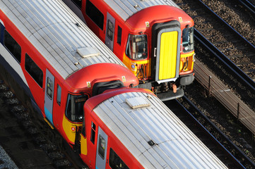 Trains at London Victoria
