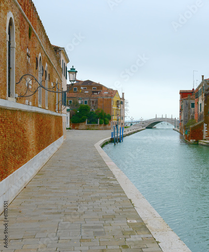 Channel to the venetian arsenal (Venice, Italy)
