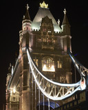 Tower Bridge at night. London. England