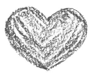 Hand drawn, crayon heart shape