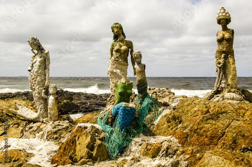 canvas print picture Skulpturen in Punta del Este, Uruguay