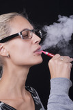 Woman Smoking E-Cigarettete