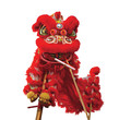 Chinese lion costume used during Chinese New Year celebration - 61117199