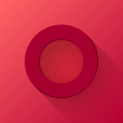Maroon Abstract Donut Button Template