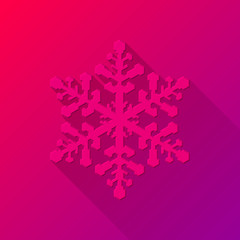 Magenta Abstract Christmas Snowflake Sign