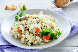 Vegetable risotto with mushrooms