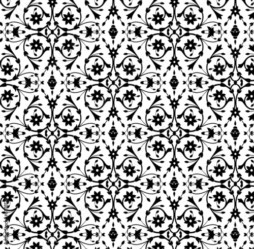 Background/pattern in Indian style/ Black and white