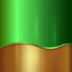 Vector metallic background with curve