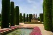 Gardens at the Alcazar in Cordoba, Spain