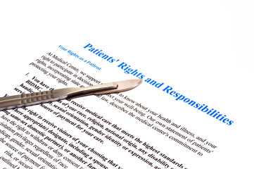 isolated patient rights and responsibilities declaration white