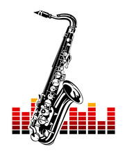 Saxophone with equalizer. Music Instrument