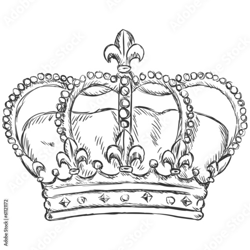 vector sketch illustration - royal crown
