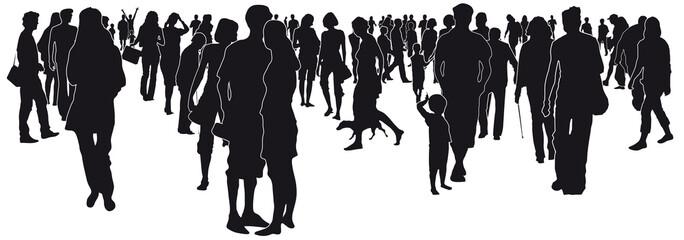 Menschen in der Stadt - Silhouette vektor