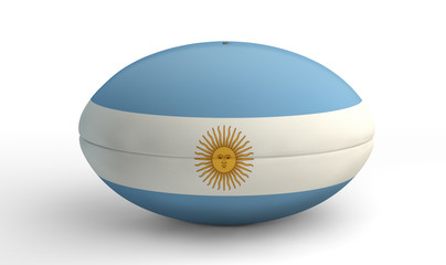 Argentina Rugby Ball On A Kicking Tee