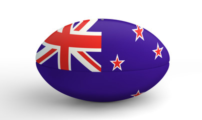 New Zealand Rugby Ball On White