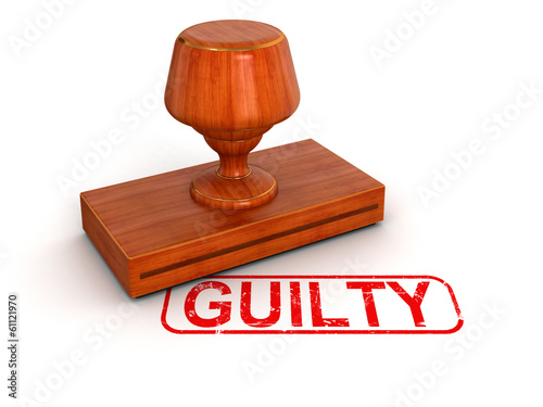 Rubber Stamp guilty (clipping path included)