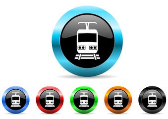 train icon vector set