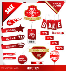eps Vector image:PRICE TAGS