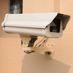 Securities camera front of housing development entry