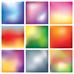 Blur abstract background set