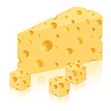 piece of cheese vector illustration