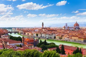 Arno river and Florence panorama