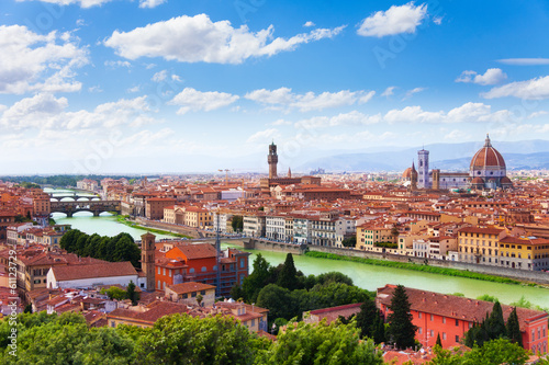 Arno river and Florence panorama