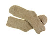 Soft Warm Cozy Pair Beige Socks