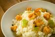 Risotto con gamberi e zucchine