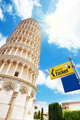 Ticket office for Pisa tower