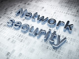 Security concept: Silver Network Security on digital background