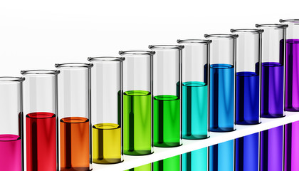 3d - chemistry - research - test tube - chemical