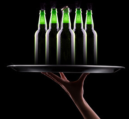 open wet beer bottles