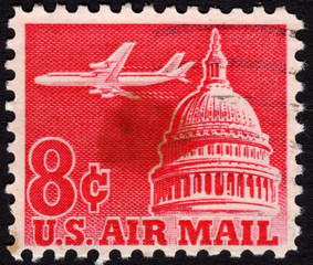 United States postage stamp used for airmail deliveries overseas