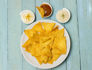 Tortilla chips with seasonings