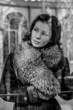 Vintage.Beautiful woman in winter.Beauty Fashion Model Girl in a