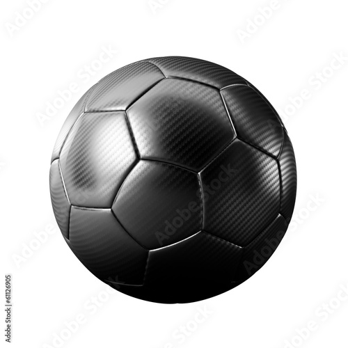 3D black classic soccer ball isolated - sports - game