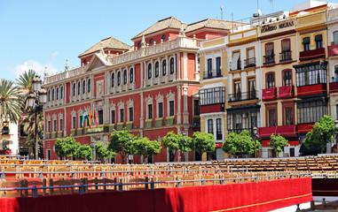 Palcos de Semana Santa, plaza San Francisco, Sevilla