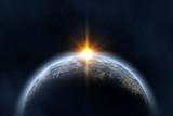 Восход солнца в космосе - 61127912