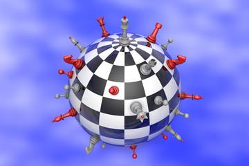 Шахматная планета (политический ба