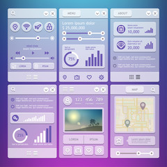 User Interface elements for mobile applications
