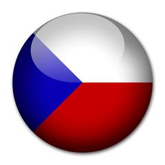 Tschechische Republik Flagge Button